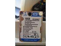 "Western Digital 2.5"" 160GB SATA Internal Hard Drive"