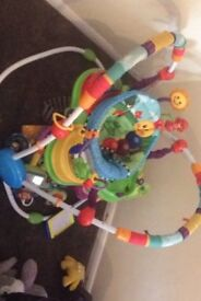 Baby bouncer jumping activity