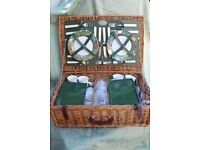 Vintage Picnic Hamper (John Lewis) with Blanket
