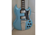 Vintage Gibson SG Style Reissued VS6V Guitar with Vibrola Tremolo & padded gigbag