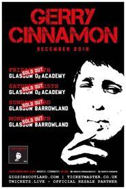 2x Gerry Cinnamon standing tickets, O2 Academy Glasgow, Saturday 15th December 2018