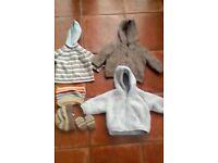 3 Boys coats & hats 3-6 mths £2 each