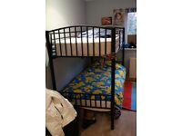 BLACK SINGLE BUNK BEDS