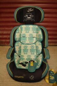 Cosatto Group 1/2/3 green/black alien car seat
