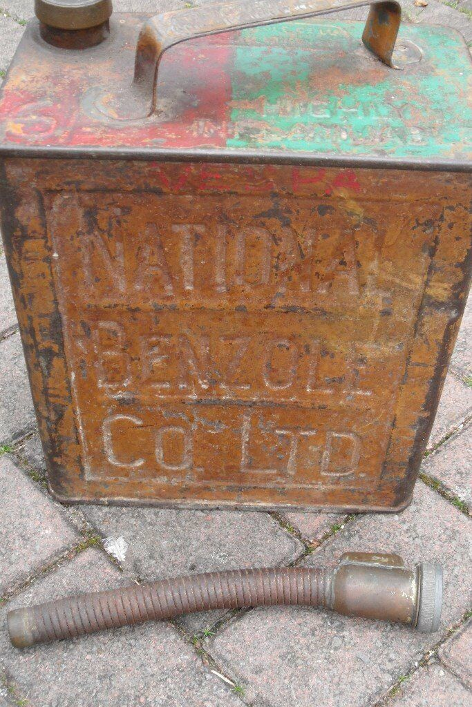 VINTAGE NATIONAL BENZOLE COLLECTABLE-DISPLAY PETROL CAN