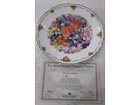 "Collectors Plates ""Queen Mother's Flowers"" Full Set of 9."