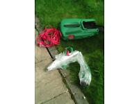 Qualcast 1500 watt lawnmower plus 350 watt strimmer set, new boxed