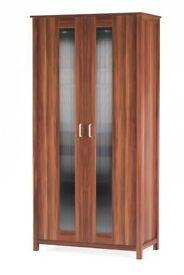 Brand New Oklahoma Walnut Effect 2 Door Storage Double Wardrobe