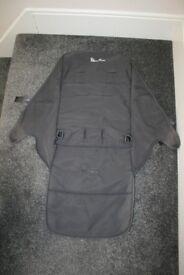 Silver Cross Reflex pram pushchair pram SEAT COVER - grey *CAN POST*