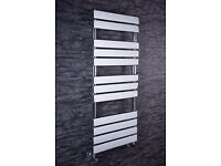 1200 x 500mm Chrome Flat Panel Heated Towel Rail
