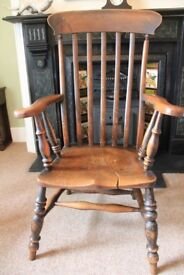 Wooden Farmhouse Windsor Arm Chair - sturdy, attractive and very comfortable