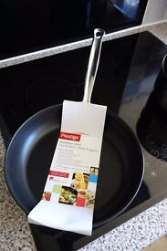 Unused Prestige 24cm Stainless Steel Non-stick Frying Pan & Glass Lid