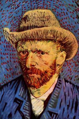Vincent van Gogh Self-Portrait with Grey Felt Hat II - Poster 24x36 (Vincent Van Gogh Self Portrait With Felt Hat)