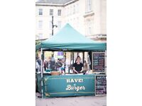 Street food pitch for sale in central Bath, on Union Street.