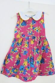 Attractive Girls / Toddlers Ninalisa Dress with White Collar, age approx 2 - 3 Years, vg