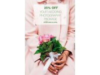 Wedding Photography 25% OFF for a limited time