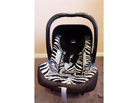 Britax Romer Zebra Babysafe Plus SHR II Baby Car Seat Group 0+ From Birth