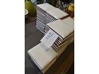 102 x White Tiles - Ideal for Small tiling job - WC / Basin / Sink Splashback £10