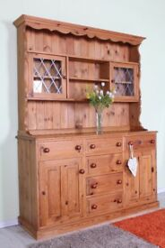 DELIVERY OPTIONS - SOLID PINE WELSH DRESSER 6 LARGE DRAWERS SOLID THROUGHOUT