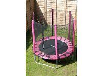Kids Girls Pink Trampoline 6 ft