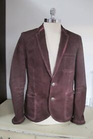 Designer Sports Jacket - HANS UBBINK, Red, size 50