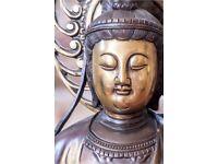 Bronze Buddha 2ft tall