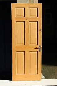 Pine Internal Front Door - Suitable for a Flat (includes 6 sets of keys for 2 locks)