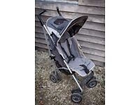 MacLaren Techno XT pushchair, buggy, stroller, grey, good condition easy to use light & compact