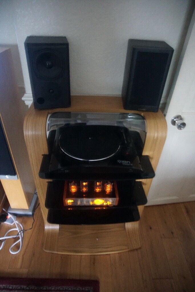 Ion record deck boxed as new,nobsound valve amplifiermission M700i speakers.
