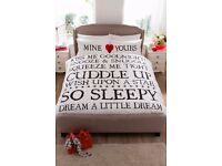 Double Mine & Yours Duvet Set