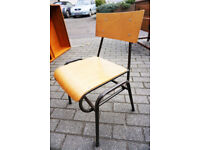 10 Fantastic Vintage Stacking Children's School Chairs £79 for All 10 - FREE CENTRAL DELIVERY