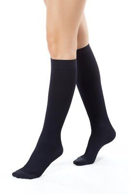Medical Anti Fatigue Calf Compression Flight Socks Ladies Size Uk 8 - 9 Black