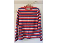 Jack Wills cotton striped long sleeved top