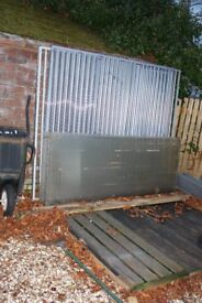 FINAL REDUCTION TO SELL..... IMMACULATE 2M x 2M 3 SECTIONS DOG PEN WITH DOOR and wooden base.