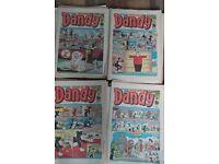 "UK COMICS FOR SALE ""DANDY"" BRITISH COMICS ALSO BEANO WARLORD TORNADO ETC ETC SEE PHOTOS"