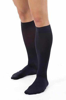 BeFit24 Medical Anti-Fatigue Calf Compression Flight Socks for Men (15-21 mmHg,