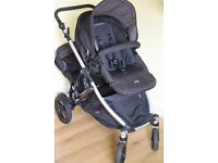 Britax B-Dual Double Buggy / Pushchair in Black Thunder, great condition. RRP £550