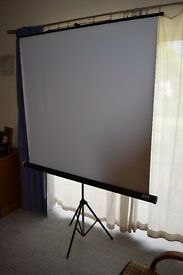 Projector screen - Jessops, collapsible includes original storage box
