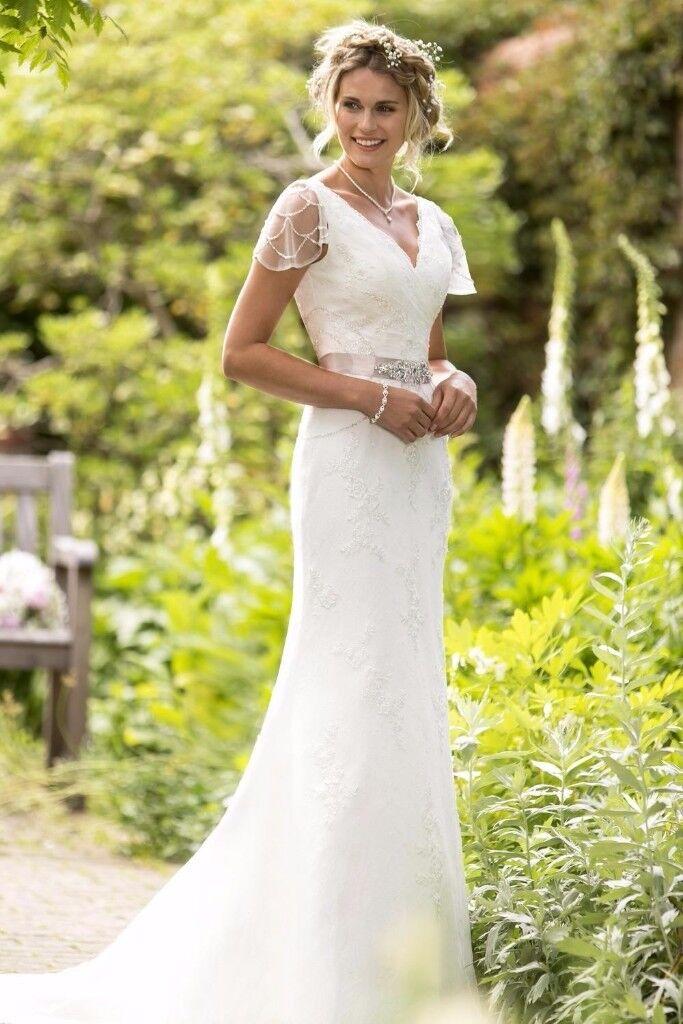 True Bride Wedding Dress W199 Size 14 Vintage Style Ivory Lace