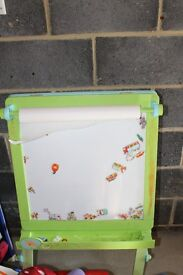 Mothercare chalkboard/whiteboard with paper (magnetic whiteboard)