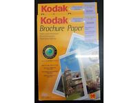 2 packs of Double Sided Kodak Brochure Paper Glossy A4 210 x 297 mm 40 Sheets
