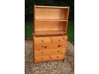 Pine Chest Of Drawers & Shelf