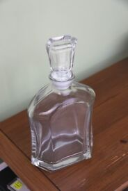 Glass Sherry / Spirit decanter by Bormioli Rocco of Italy, in original box and unused.