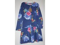 Brand New with Tags Joules Girls Dress Age 11-12 Years 152cm Navy Flor