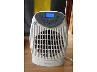 Electric Digital Fan Heater/Fire. Quiet, Safe. Shed Greenhouse Office Caravan
