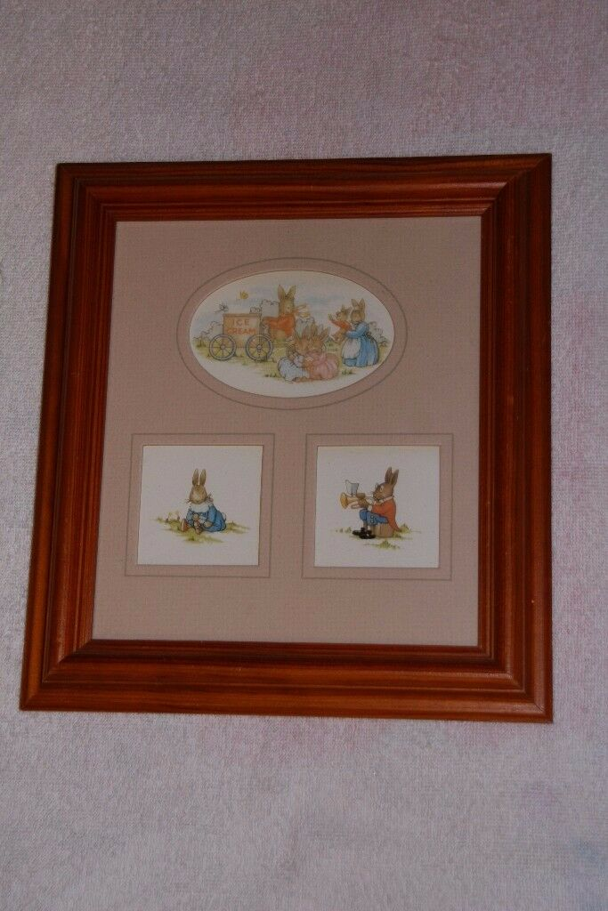 Royal Doulton Bunnykins framed picture