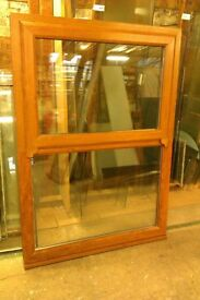 2 Light Oak effect upvc glazed same style windows