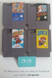 Unboxed Nintendo NES games for sale