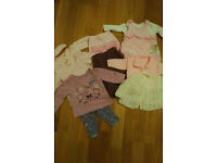 baby girl clothes tops and trousers bundle 0-3 months