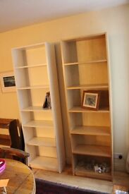 Three Bookcases - Two Tall - One Medium : Good Condition
